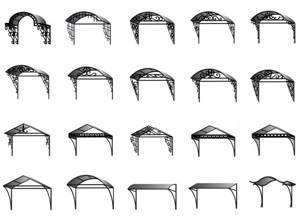 Формы навесных конструкций