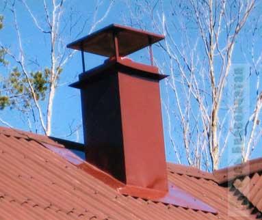 Короба дымоходов для металлочерепицы hansa очиститель дымохода 1 кг